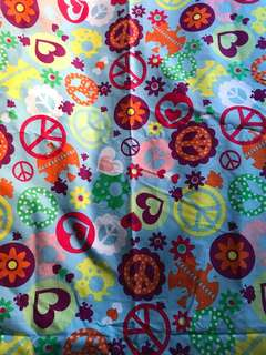 Fabric with colourful prints