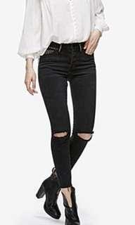 Free People Studded Payton distressed denim skinny jean size 25