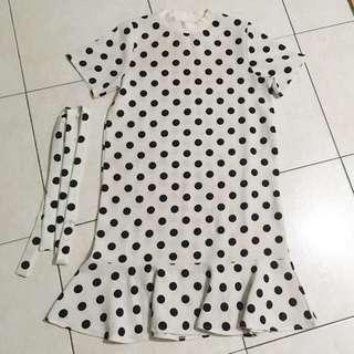 Drop waist Polka Dot Dress