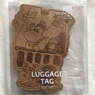 [全新]Moomin Luggage Tag 姆明皮質行李牌