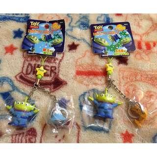 迪士尼 三眼怪 三眼仔 玩具總動員 公仔 富士山 名古屋 吊飾 手機吊飾