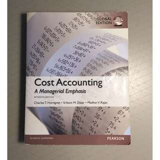 Cost accounting- A managerial emphasis 15th edition Pearson Global edition