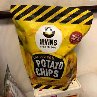 新加坡人氣手信炸魚皮薯片 Irvins Salted Egg Potato Chips (big size, 230gr)