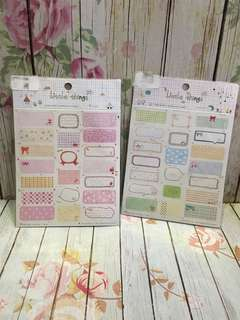 Scrapbook / name stickers
