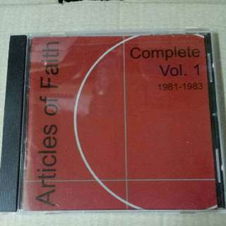 Music CD: Articles Of Faith–Complete Vol. 1 1981-1983 - Cult Hardcore/Punk From Chicago USA - Alternative Tentacles Records