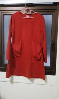 Red short dress worn once or twice