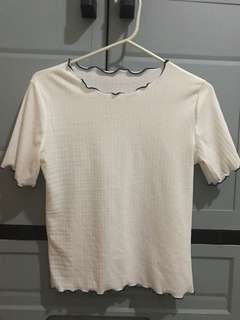 Unbranded White Thin blouse