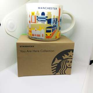曼徹斯特 Manchester Starbucks Mug we are here collection