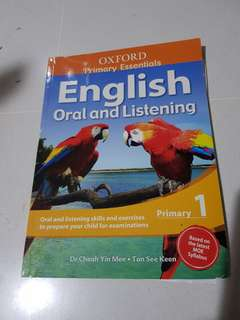 Preloved Oxford English oral and listening primary 1