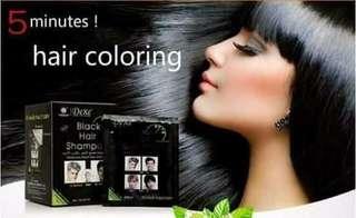 Dexe hair black shampoo
