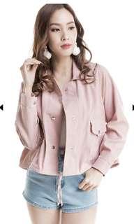 Basic Button Jacket (Pink)