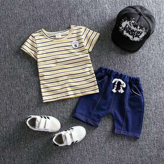 Boy Sets Yellow Stripes (1-4 years old)