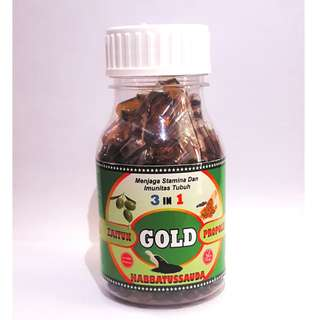 Herbal gold 3 in 1 habbatussauda - propolis - minyak zaitun