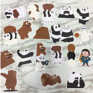 WE BARE BEAR LUGGAGE STICKERS