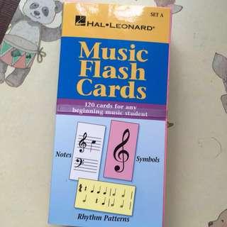 BN Hal Leonard music flash cards set A