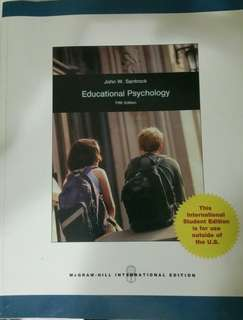 Educational Psychology 5th edition by John W. Santrock