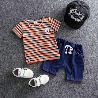 Boy Sets Stripes Orange (1-4 years old)