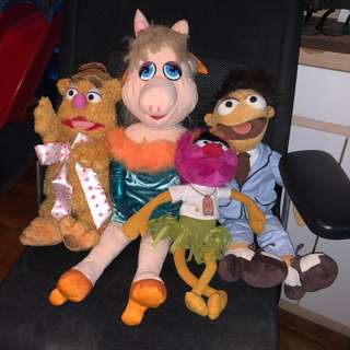 Soft Toys muppets set of 4 vintage toy antique not Kenner not hasbro plush toy not Disney not marvel