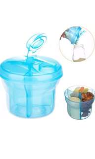 3 compartment portable milk powder/ snack container for baby