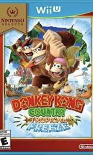 Donkey Kong Tropical Freeze Wii U