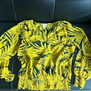 H&M chiffron top 衫