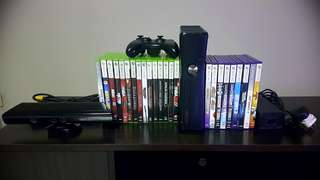 Xbox 360 Kinect with 24 Original Games and wireless controller
