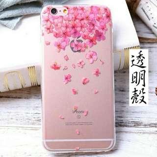 花 IPhone透明軟殼