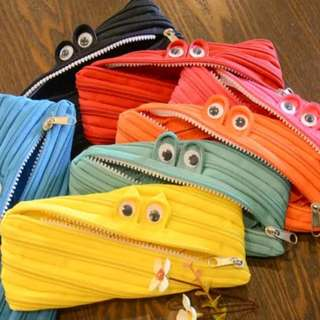 Monster zipper pencil case 7 colors