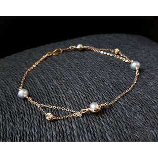 HANDMADE! Genuine Pearl Anklet A60011