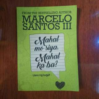 Tagalog Books - Mahal Mo Siya, Mahal Ka Ba? by Marcelo Santos