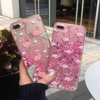 Sequined Flamingo iPhone Case for 6 / 7 / 8 + / X