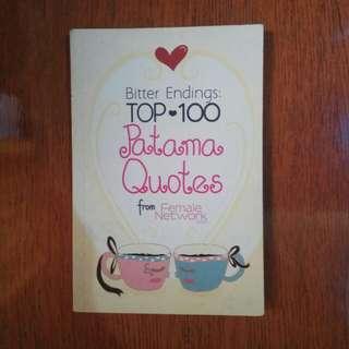 Tagalog Books - Patama Quotes