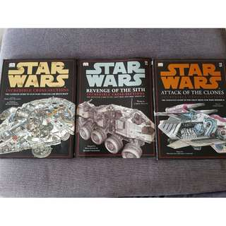 Star Wars Incredible Cross Sections: Star Wars, Attack of the Clones, Revenge of the Sith Hardcovers