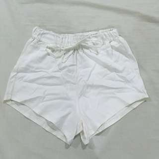 Cheeky white boy shorts