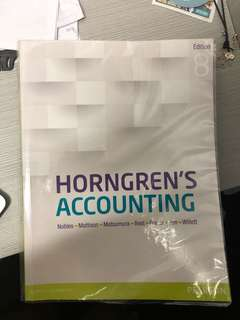Horgren's accounting 8th edition