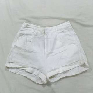 Forever 21 white beach shorts