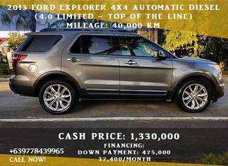 Ford Explorer 2013 Limited 4x4 Automatic Diesel (4.0 - Top of the line)
