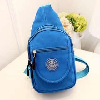 Bag/ Chest Bag/ Sling Bag/ Canvas Bag - Sky Blue