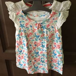 Preloved mothercare lace top 2pcs