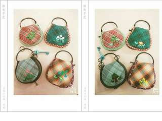 Embroidery keychain holder