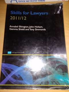 Skills for Lawyers 2011/12
