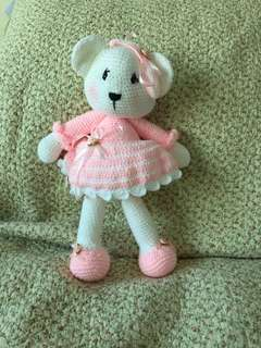 Crochet bear doll