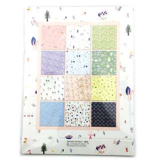 24 Sheets Wrapping Paper Book ~ Blossom White