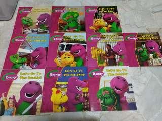 Assorted Children's books (Barney Series)