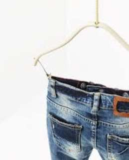 Zara Kids Skinny Fit Distressed Ripped Jeans