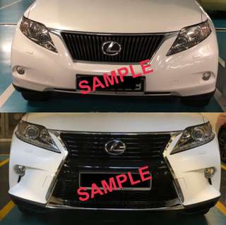 Upgrade 2009-2012 Lexus RX to 2013-2018 facelift