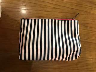 stripes cosmetic bag miniso