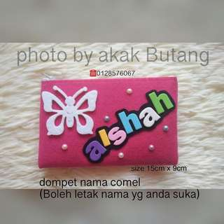 wallet handmade with (your name)