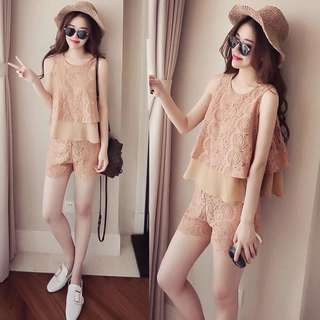 Two piece Lace Romper