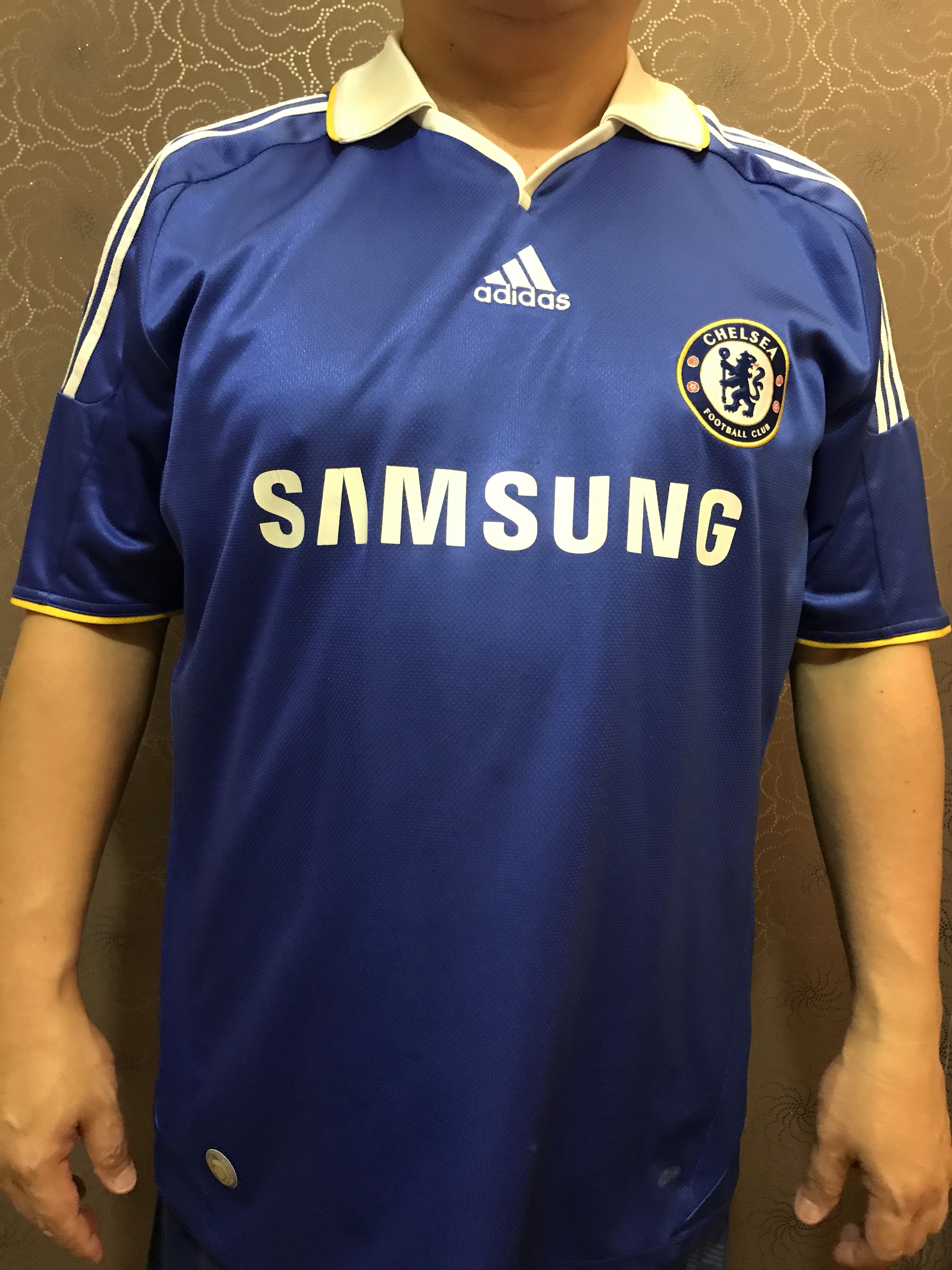 7a2f3c39727 2008-09 Chelsea Home Shirt by Adidas